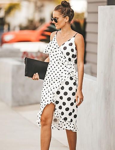8dad1d659 baratos Vestidos de Mulher-vestido de bainha assimétrica das mulheres cinta  branca s m l xl