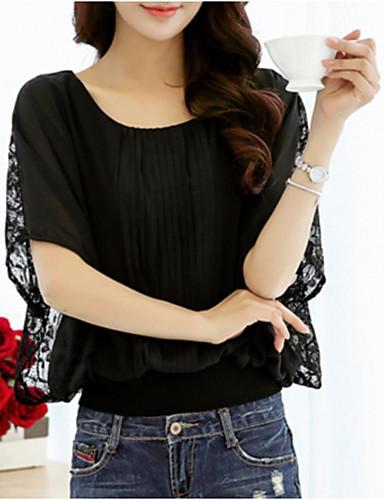6229cc5e79ec cheap Women's Tops-Women's Daily Wear Plus