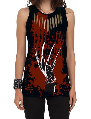 povoljno Ženske majice-Veći konfekcijski brojevi Potkošulja Žene - Ulični šik / Punk & Gotika Izlasci / Athleisure Geometrijski oblici Print Red