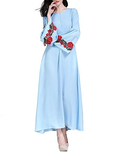 Per Donna Swing Abaya Caftano Vestito Tinta Unita Maxi #07310654 Aspetto Bello