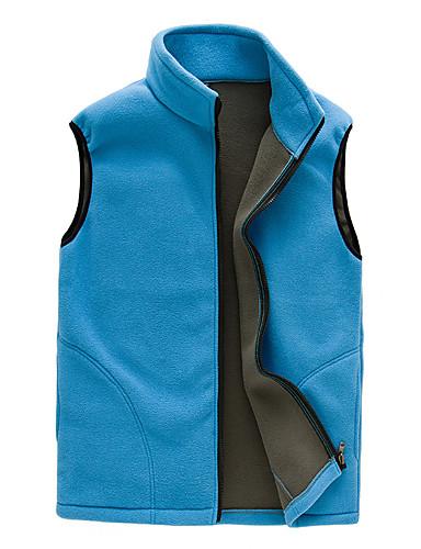 voordelige Damesjassen & trenchcoats-Dames Dagelijks Standaard Lente & Herfst Normaal Vest, Effen Opstaand Mouwloos Polyester blauw / Paars
