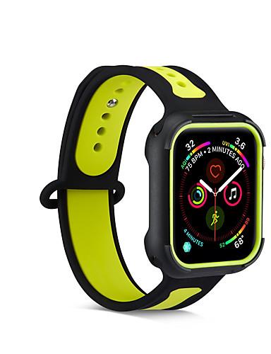 רצועת סיליקון עבור אפל שעון הלהקה 44mm / 40mm / 42mm / 38mm צמיד ספורט הצמיד watchband עבור iwatch רצועת 4/3/2/1 גומי wrisbelt