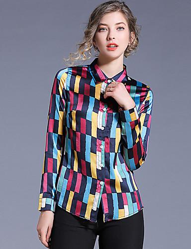 povoljno Majica-Majica Žene - Osnovni Dnevni Nosite Geometrijski oblici Četvrtasti izrez Kolaž Duga