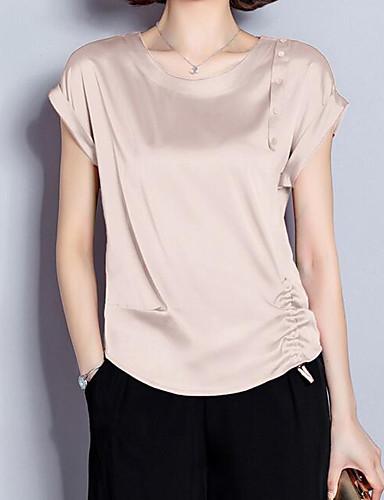 povoljno Ženske majice-Majica Žene Dnevni Nosite Jednobojni Djetelina US8