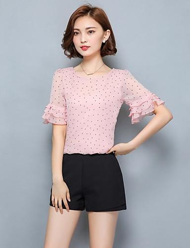 אחיד בסיסי מידות גדולות חולצה - בגדי ריקוד נשים ורד מאובק פול