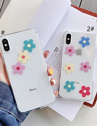 מארז iPhone xr / iPhone xs max תבנית / שקוף חזרה לכסות פרח רך tpu עבור x x x 8 x 8 8 7 7plus 6 6plus 6s 6s פלוס