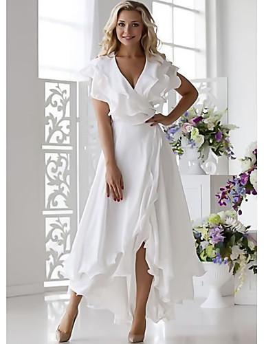 povoljno Ženske haljine-Žene Sexy A kroj Haljina Jednobojni V izrez Midi