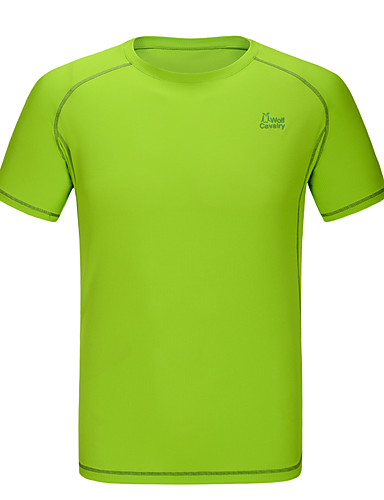 cheap Outdoor Clothing-Men's Solid Color Hiking Tee shirt Short Sleeve Outdoor Breathable Quick Dry Stretchy Comfortable Tee / T-shirt Summer POLY Light Grey Army Green Royal Blue Camping / Hiking / Caving Traveling
