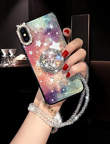 מגן עבור Apple iPhone XS / iPhone XR / iPhone XS Max ריינסטון / מחזיק טבעת כיסוי אחורי שמיים רך סיליקון