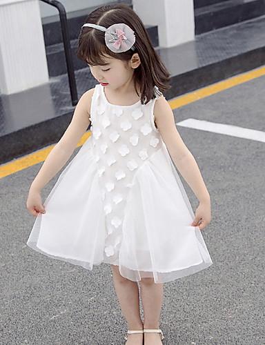 3c8d8b2fb cheap Flower Girl Dresses-A-Line Knee Length Flower Girl Dress - Polyester  Sleeveless