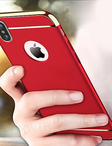 מארז iPhone XS מקס / iPhone x shockproof לכסות בחזרה 3 ב 1 קשה מחשב אולטרה דק אנטי שריטה מאט electroplate מסגרת מסגרת עבור iPhone 7 / iPhone 7 פלוס / iPhone 8