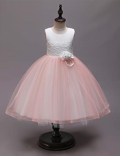 שמלה עד הברך ללא שרוולים טלאים טלאים פעיל / מתוק בנות ילדים