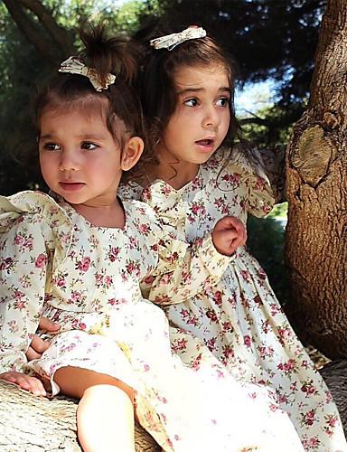 שמלה שרוול ארוך פרחוני בנות תִינוֹק