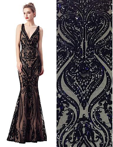 halpa Wedding Dress Fabric-Pitsi Yhtenäinen Pattern 130-140 cm leveys kangas varten Morsius myyty mukaan 5Yard