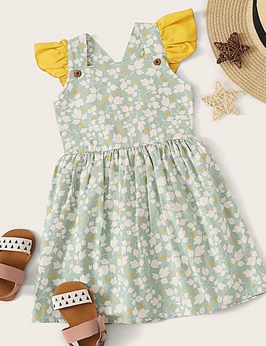שמלה ללא שרוולים גיאומטרי בנות תִינוֹק