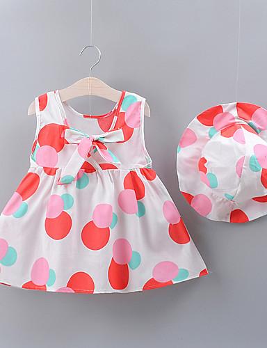 שמלה ללא שרוולים מנוקד בנות תִינוֹק