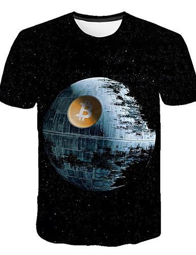 preiswerte Herren T-Shirts & Tank Tops-Herrn 3D - Grundlegend T-shirt Regenbogen XL