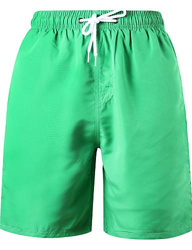 תלתן XL XXL XXXL שרוכים לכל האורך אחיד, בגדי ים חלקים תחתונים מכנסי שחייה תלתן כתום אודם ספורטיבי בסיסי בגדי ריקוד גברים