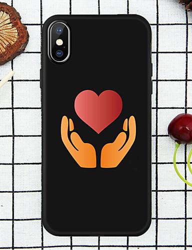 מארז תפוח אהבה חזרה ידיים ואהבה רכה tpu עבור iPhone x / xs / xr / xs max / 7p / 8p / 6p / 8/7/6