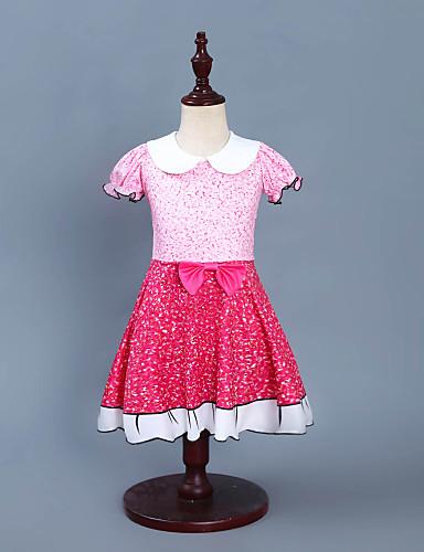 שמלה מעל הברך ללא שרוולים טלאים פעיל / סגנון רחוב בנות ילדים / פעוטות