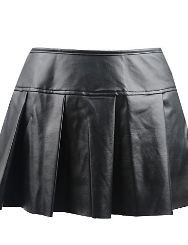 abordables Lingerie-Normal Polyuréthane Robes & Jupes Super sexy Couleur Pleine Occasion spéciale Paillettes Jupe