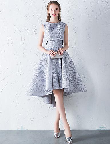 billige Feriekjoler-A-linje / Todelt Besmykket Asymmetrisk Blonder Cocktailfest Kjole med av LAN TING Express