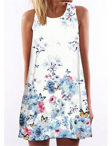 Kadın's Kombinezon Elbise - Geometrik Diz üstü
