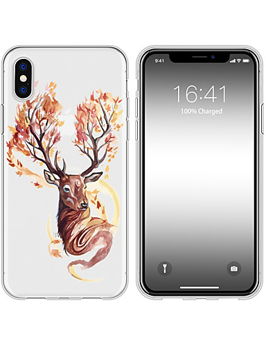 iphone x xs max xr xs case arka için yumuşak kapak tpu basit elk yumuşak tpu iphone5 5 s se 6 6 p 6 s sp 7 7 p 8 8p16 * 8 * 1