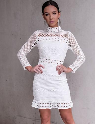 Kadın's Sokak Şıklığı Kılıf Elbise - Solid, Şalter Diz üstü