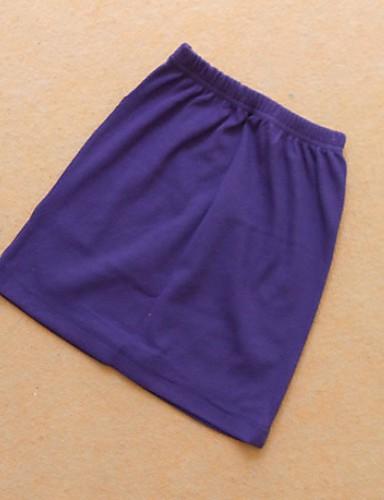 abordables Jupes-Femme Basique Coton Moulante Jupes - Couleur Pleine Noir Vin Violet Taille unique