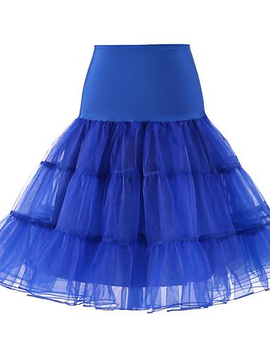 billige Truser til bryllup-Bryllup / Bryllupsfest Underkjoler Polyester / Tyll Knelengde لون واحد / Tutuer & Skjørter med
