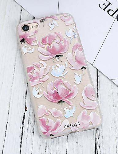 Apple iphone 7 için kılıf artı su geçirmez / toz geçirmez / saydam arka kapak çiçek yumuşak tpu / taze gül moda kabuk telefon kılıfı için iphone 5/5 s / 6/6 s / iphone 6/6 s artı / iphone 7