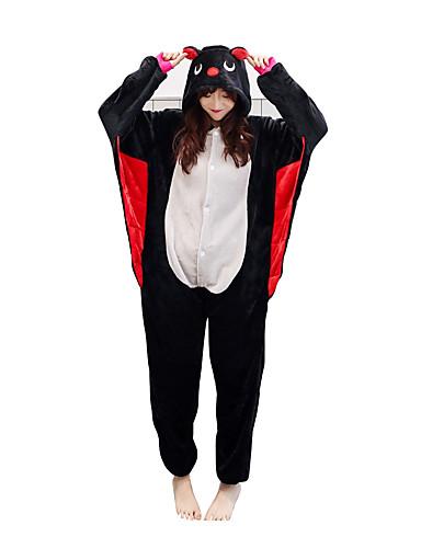 521793d61245 Недорогие Пижамы кигуруми-Взрослые Пижамы кигуруми Летучая мышь Цельные  пижамы Черный Косплей Для Муж.