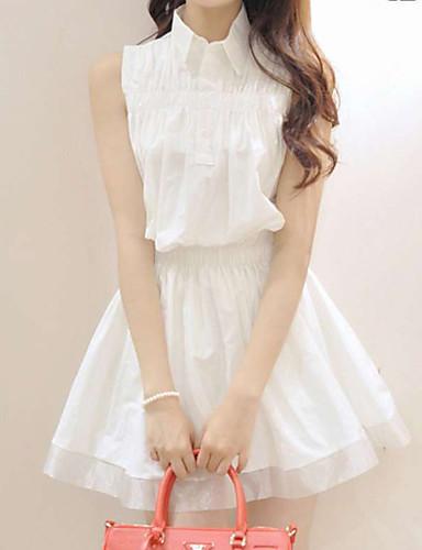 Kadın's Kılıf Elbise - Solid Diz üstü