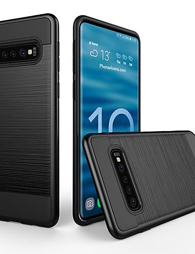 Pouzdro Uyumluluk Samsung Galaxy Galaxy S10 Plus Toz Geçirmez / Buzlu Arka Kapak Solid PC
