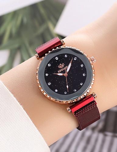 Kadın's Elbise Saat Quartz Gündelik Saatler Analog Klasik - Siyah Mor Fuşya