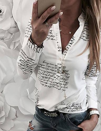 povoljno Ženske majice-Majica Žene Dnevni Nosite Pamuk Slovo V izrez Širok kroj Obala