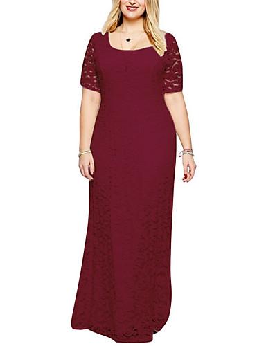 voordelige Maxi-jurken-dames maxi schede jurk wijn wit zwart l xl xxl xxxl