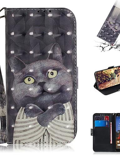 google piksel 3a xl / google piksel 3a cüzdan / kart sahibinin / darbeye dayanıklı tam vücut kılıfları kedi pu deri