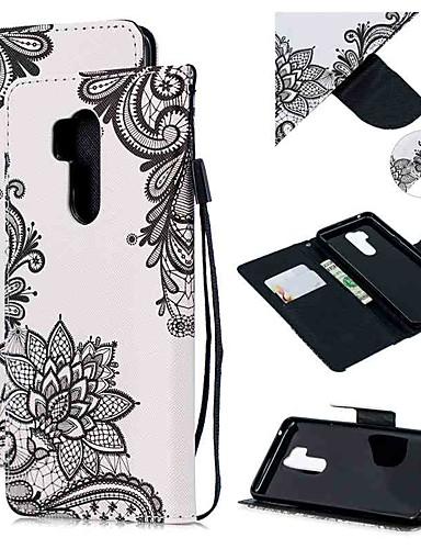 Pouzdro Uyumluluk LG LG Q Stylus / LG StyLo 3 / LG Stylo 4 Cüzdan / Kart Tutucu / Şoka Dayanıklı Tam Kaplama Kılıf Çiçek PU Deri