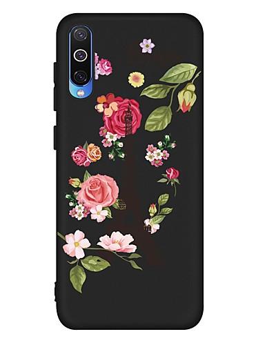 Pouzdro Uyumluluk Samsung Galaxy A6 (2018) / A6+ (2018) / Galaxy A7(2018) Şoka Dayanıklı / Buzlu / Temalı Arka Kapak Çiçek TPU