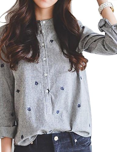 Kadın's Gömlek Desen, Geometrik Gri