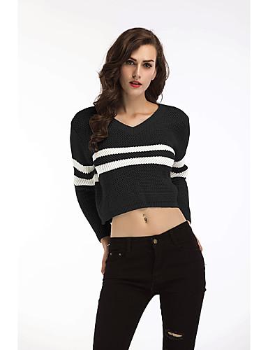 billige Dametopper-T-skjorte Dame - Ensfarget, Lapper Svart US14 / UK18 / EU46