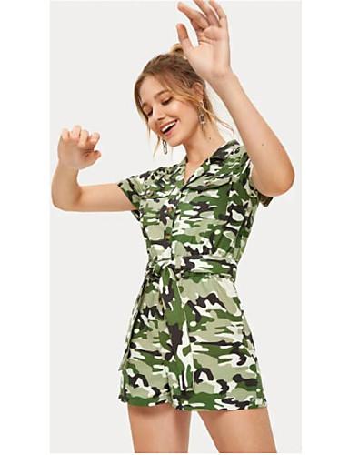 Kadın's Ordu Yeşili Tulum, kamuflaj S M L