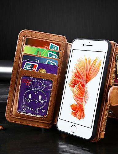Pouzdro Uyumluluk Apple iPhone 8 / iPhone 7 Cüzdan / Kart Tutucu / Flip Tam Kaplama Kılıf Solid PU Deri