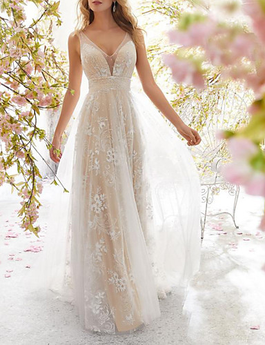 voordelige Maxi-jurken-Dames Feest Elegant Schede Jurk Blote rug V-hals Maxi / Sexy