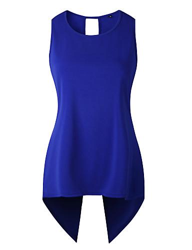 povoljno Ženske majice-Potkošulja Žene - Osnovni Dnevni Nosite Jednobojni V izrez Uske, Otvorena leđa / Prekrižene naramenice Svijetlo zelena