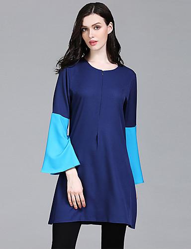 Kadın's Gömlek Kırk Yama, Zıt Renkli Temel / Zarif Havuz