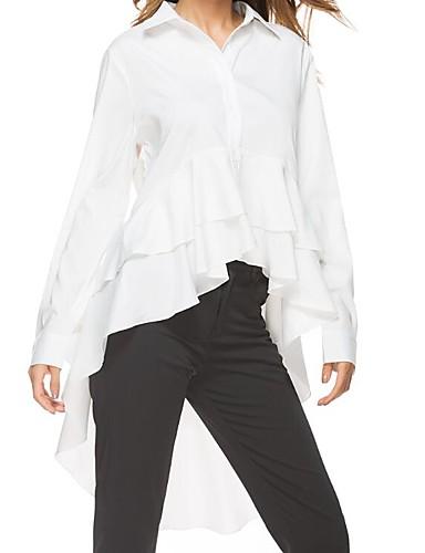billige Dametopper-Skjorte Dame - Ensfarget, Blonde / Lapper Gatemote / Punk & Gotisk Hvit