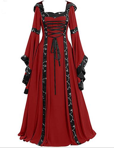 رخيصةأون فساتين للنساء-فستان نسائي متموج أساسي طباعة طويل للأرض مخطط هندسي